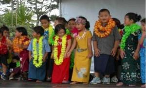 Children wearing traditional Pasifika clothing.
