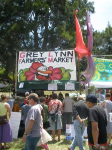 People at the Grey Lynn Farmer's Market