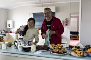 Food being prepared for a repair cafe event